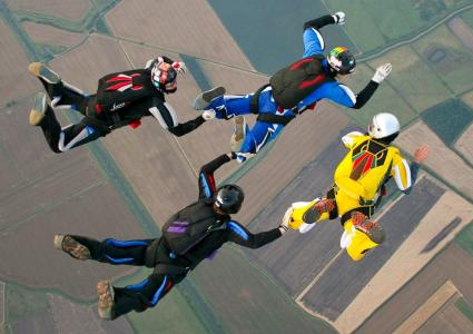 4-way Formation Skydiving