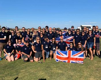 The British delegation at the World Cup of Formations  Skydiving and Artisitc Event in Eloy, Arizona