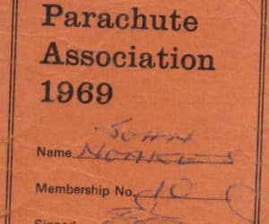 John's UK parachutist 'General Permit' to jump, 1969