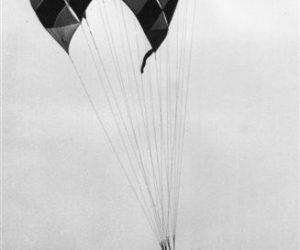 Delta 2 Parawing on a demo circa 1971