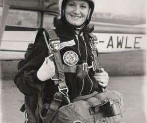 Anne Bell, Secretary Northumbria Parachute Club circa 1973