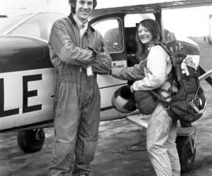 Rob Noble-Nesbitt with student Edwina (surname unknown), circa 1974