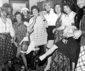 Sunderland Club event circa 1976. Malcolm Eltringham, Bob Nixon, Tony Wood, Stu Charlton, unknown, Rob Noble-Nesbitt, Graham Vincent, Ken Nelson, Paul Griffiths