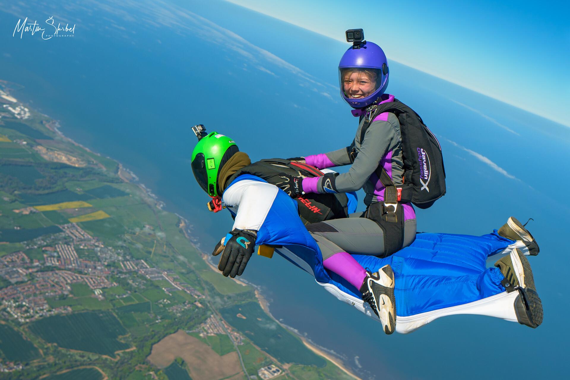 Morgan on a wingsuit rodeo :Martin Skrbel